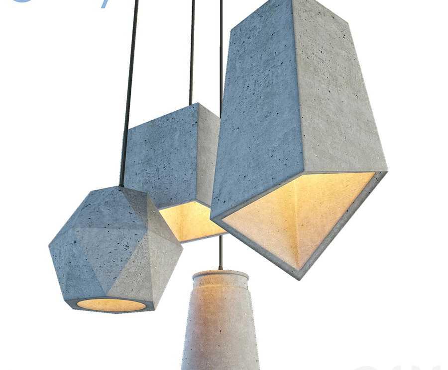 Светильники из архитектурного бетона