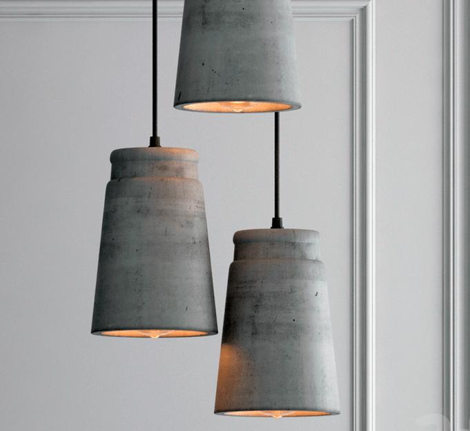 Светильники из декоративного бетона
