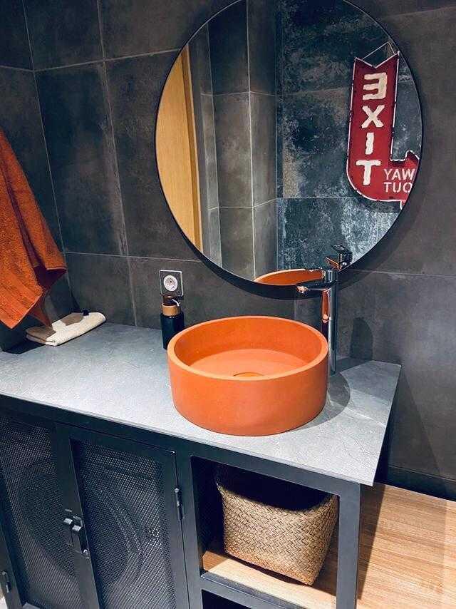 Раковина из декоративного бетона