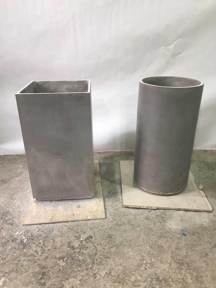 Кашпо и вазоны из артбетона